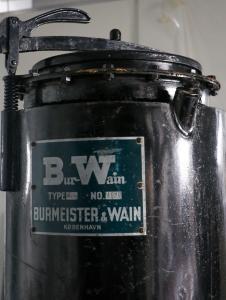 Gasgenerator fra B&W. Blev bl.a. brugt under 2. verdenskrig